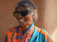 women happy after cataract blindness surgery