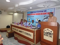 NBJK Secretary Mr. Satish Girija, Speaking at the workshop